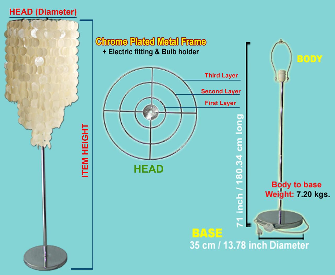 Capiz Floor Lamp Shade Quotation Form